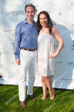 Stock Picture of Editor in Chief of Hamptons Magazine Samantha Yanks, left, attends Hamptons Magazine Memorial Day Soiree at a private estate in Sagaponack, in New York