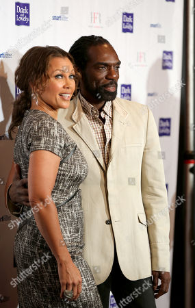 Vanessa Williams and designer Kevan Hall are seen at Harlem's Fashion Row 5th Anniversary Fashion Show, on in New York