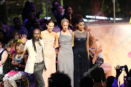 Designer Kevan Hall, left, is seen at Harlem's Fashion Row 5th Anniversary Fashion Show, on in New York