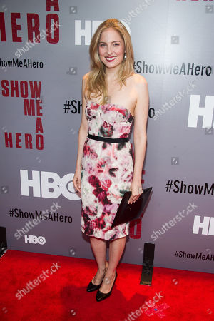 """Hilary Mann attends a special screening of HBO's """"Show Me A Hero"""" miniseries at The New York Times Center, in New York"""