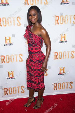 "Erica Tazel attends History Channel's ""Roots"" mini-series premiere at Alice Tully Hall, in New York"