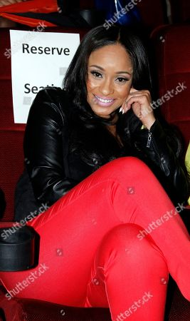 Tahiry Wright attends Holla II Movie Premiere - NYC on Wed, at AMC Empire 25 in New York. NY
