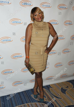 Trina Braxton attends Lupus LA's Hollywood Bag Ladies Luncheon at the Beverly Wilshire Hotel, in Beverly Hills, Calif