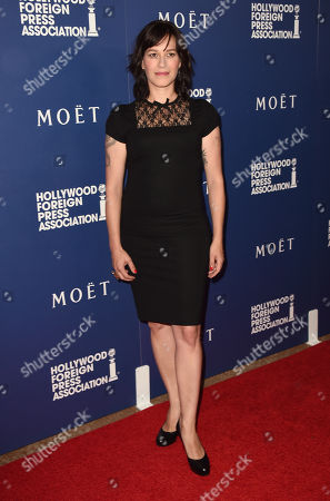 Franka Potente arrives at the Hollywood Foreign Press Association's Grants Banquet at the Beverly Hilton hotel, in Beverly Hills, Calif