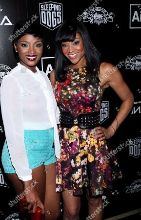 Mimi Faust and Ariane Davis (white top) attend the House of Hype Music Awards at the Beverly Hills Hotel, in Beverly Hills, Calif