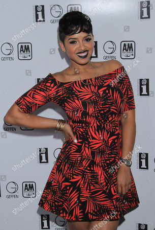 RaVaughn seen at Interscope Records Pre Party at the W Hotel Hollywood, in Los Angeles, Calif