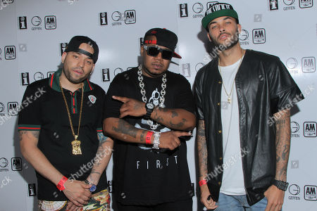 Cristion D'or, Twista and Don Benjamin seen at Interscope Records Pre Party at the W Hotel Hollywood, in Los Angeles, Calif