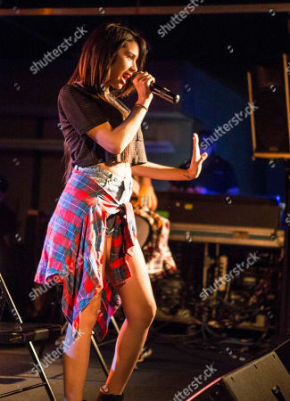 Stock Picture of Jasmine V performs during the Jake Miller: Dazed & Confused Tour at The Loft, in Atlanta