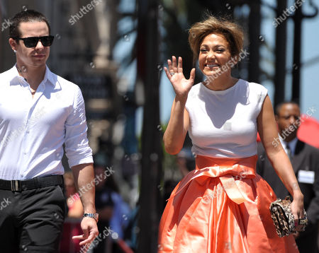 """Jennifer Lopez, right, and Beau """"Casper"""" Smart appear at her star ceremony on the Hollywood Walk of Fame on in Los Angeles"""
