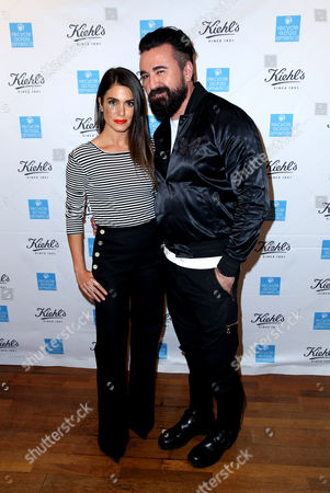 Nikki Reed, left, and President of Kiehl's U.S. Chris Salgardo attend the Kiehl's Earth Day Celebration with Nikki Reed to Benefit Recycle Across America at Kiehl's Since 1851 on in Santa Monica, Calif