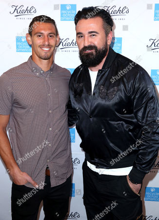 Daniel Steres, left, and President of Kiehl's U.S. Chris Salgardo attend the Kiehl's Earth Day Celebration with Nikki Reed to Benefit Recycle Across America at Kiehl's Since 1851 on in Santa Monica, Calif