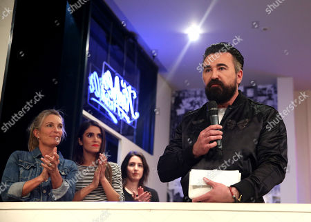 President of Kiehl's U.S. Chris Salgardo speaks at the Kiehlâ?™s Earth Day Celebration with Nikki Reed to Benefit Recycle Across America at Kiehl's Since 1851 on in Santa Monica, Calif