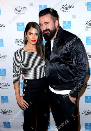 Nikki Reed, left, and President of Kiehl's U.S. Chris Salgardo attend the Kiehlâ?™s Earth Day Celebration with Nikki Reed to Benefit Recycle Across America at Kiehl's Since 1851 on in Santa Monica, Calif