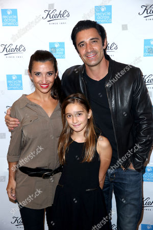 Carole Marini, from left, Juliana Marini, and Gilles Marini attend the Kiehlâ?™s Earth Day Celebration with Nikki Reed to Benefit Recycle Across America at Kiehl's Since 1851 on in Santa Monica, Calif