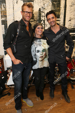 Stock Photo of Johann Urb, from left, Roseanne Barr and Gilles Marini attend Kiehl's x Makos Exhibit and Auction for OCRF at Kiehl's on Robertson, in Los Angeles