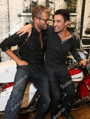 Stock Picture of Johann Urb, left, and Gilles Marini attend Kiehl's x Makos Exhibit and Auction for OCRF at Kiehl's on Robertson, in Los Angeles