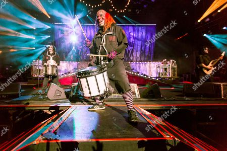 "M. Shawn ""Clown"" Crahan of Slipknot performs during Day 2 of the 2015 Knotfest USA at San Manuel Amphitheater on in San Bernardino, Calif"