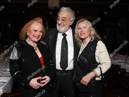 Carol Connors, Placido Domingo and Merrie Lynn attend LA Opera's Hercules vs Vampires Opening Night at the Dorothy Chandler Pavilion on in Los Angeles