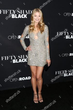 "Kate Miner attends the LA Premiere of ""50 Shades of Black"" held at Regal L.A. Live, in Los Angeles"