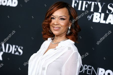 "LisaRaye McCoy-Misick attends the LA Premiere of ""50 Shades of Black"" held at Regal L.A. Live, in Los Angeles"