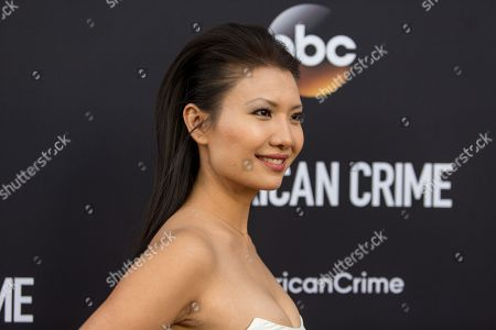 """Stock Photo of Gwendoline Yeo attends the LA Premiere of """"American Crime"""" on in Los Angeles"""
