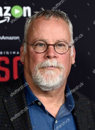 """Michael Connelly, creator and co-writer of """"Bosch,"""" poses at the season two premiere of the Amazon original series at the Pacific Design Center, in West Hollywood, Calif. The show takes its inspiration from Connelly's novels """"City of Bones,"""" """"Echo Park"""" and """"The Concrete Blonde"""