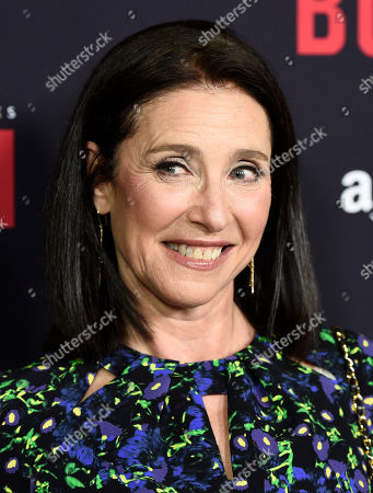 """Mimi Rogers, a cast member in """"Bosch,"""" poses at the season two premiere of the Amazon original series at the Pacific Design Center, in West Hollywood, Calif"""