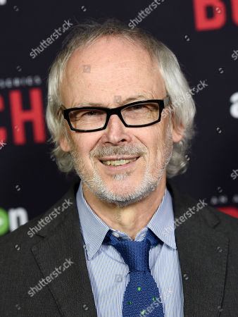 """Pieter Jan Brugge, a cast member in """"Bosch,"""" poses at the season two premiere of the Amazon original series at the Pacific Design Center, in West Hollywood, Calif"""