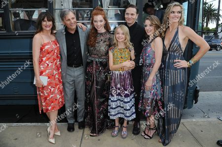 "Kathryn Hahn, from left, Viggo Mortensen, Annalise Basso, Shree Crooks, Matt Ross, Samantha Isler and Missi Pyle attend the LA Premiere of ""Captain Fantastic"" held at Harmony Gold Theater, in Los Angeles, Calif"