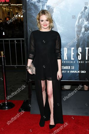"Fallon Goodson attends the LA Premiere of ""Everest"" held at the TCL Chinese Theatre IMAX, in Los Angeles"