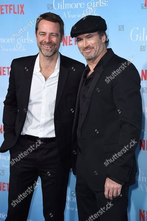 "Scott Patterson and David Sutcliffe arrives at the premiere of ""Gilmore Girls: A Year In The Life"" on in Los Angeles"