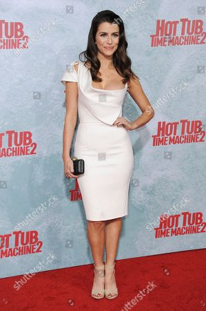 """Stock Image of Bianca Haase arrives at the LA Premiere Of """"Hot Tub Time Machine 2"""" held at the Regency Village Theater, in Los Angeles"""