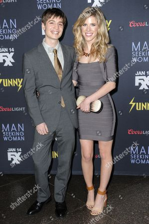 """Simon Rich, left, and Kathleen Hale arrive at the LA Premiere Of """"It's Always Sunny In Philadelphia"""" And """"Man Seeking Woman"""" at the DGA Theater, in Los Angeles"""