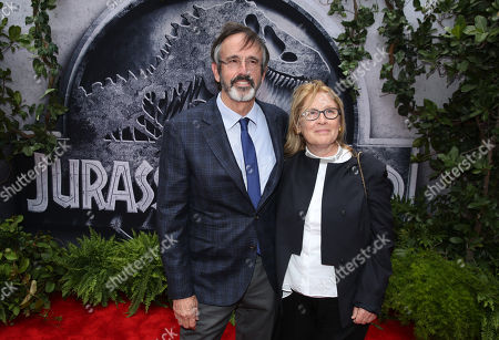 "Stock Picture of Producer Patrick Crowley, left, and Cathleen Summers arrive at the Los Angeles premiere of ""Jurassic World"" at the Dolby Theatre on"