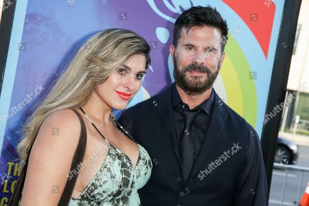 """Shawna Craig, left, and Lorenzo Lamas arrive at the LA Premiere Of """"Love & Mercy"""" at the Samuel Goldwyn Theater, in Beverly Hills, Calif"""