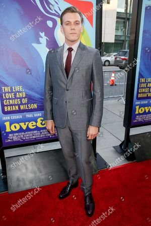 "Jake Abel arrives at the LA Premiere Of ""Love & Mercy"" at the Samuel Goldwyn Theater, in Beverly Hills, Calif"