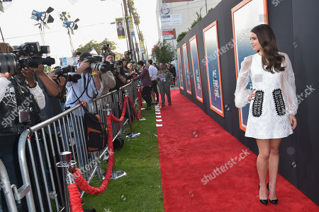 """Katherine Hughes arrives at LA Premiere Of """"Me And Earl and The Dying Girl"""" Red Carpet at Harmony Gold Theater, in Los Angeles"""