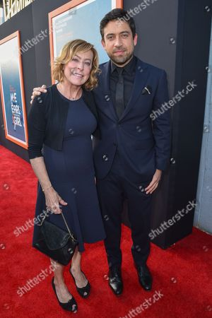 """Nancy Utley, left and Alfonso Gomez-Rejon arrive at LA Premiere Of """"Me And Earl and The Dying Girl"""" Red Carpet at Harmony Gold Theater, in Los Angeles"""