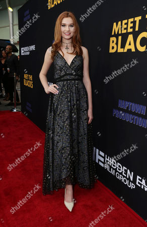 """Serena Laurel seen at """"Meet the Blacks"""" Premiere at the ArcLight Hollywood, in Los Angeles"""
