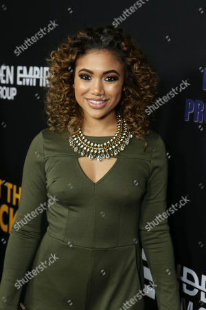 "Paige Hurd seen at ""Meet the Blacks"" Premiere at the ArcLight Hollywood, in Los Angeles"