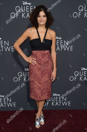 """Ashley Dyke attends the LA Premiere of """"Queen of Katwe"""" held at the El Capitan Theatre, in Los Angeles"""