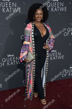 "Saycon Sengbloh attends the LA Premiere of ""Queen of Katwe"" held at the El Capitan Theatre, in Los Angeles"