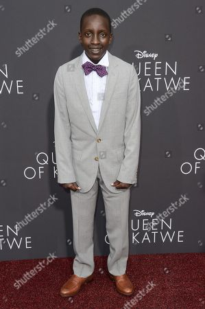 """Stock Image of Martin Kabanza attends the LA Premiere of """"Queen of Katwe"""" held at the El Capitan Theatre, in Los Angeles"""