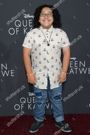 """Stock Image of Nathan Arenas attends the LA Premiere of """"Queen of Katwe"""" held at the El Capitan Theatre, in Los Angeles"""
