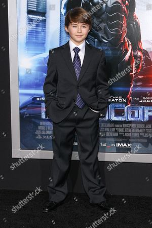 """Actor John Paul Ruttan attends the premiere of """"RoboCop"""" at the TCL Chinese Theatre, on Monday, February, 10, 2014 in Los Angeles"""