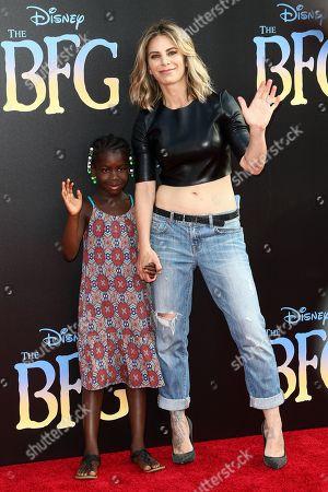 "Lukensia Michaels, left, and Jillian Michaels attend the LA Premiere of ""The BFG"" held at El Capitan Theatre, in Los Angeles"