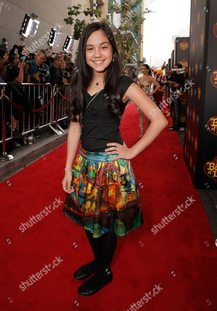 Genesis Ochoa attends the Twentieth Century Fox and Reel FX Animation Studios premiere of 'The Book of Life' on Sun, in Los Angeles