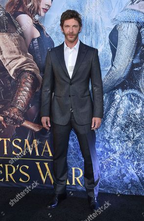"Sam Hazeldine arrives at the LA Premiere of ""The Huntsman: Winter's War"" at the Regency Village Theatre, in Los Angeles"