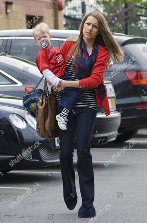 Stock Image of Hayley Grice, wife of Darren Fletcher, and son Jack.