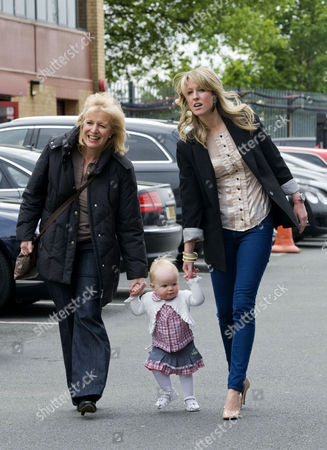 Lisa Roughead, right,  (wife of Michael Carrick) and daughter Louise.